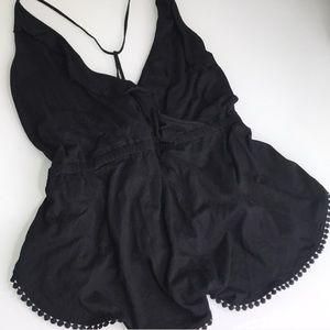 Topshop Romper in Black Cotton